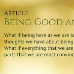 Being Good and Right